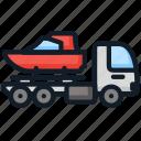 boat, load, logistics, transport icon