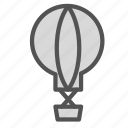 air, balloon, sightseeing, transport icon