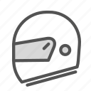 equipment, helmet, motorcicle icon