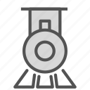 engine, old, public, steam, train, transport, vintage icon