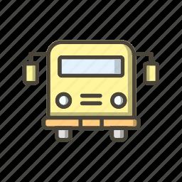 bus, education, school bus, vehicle icon
