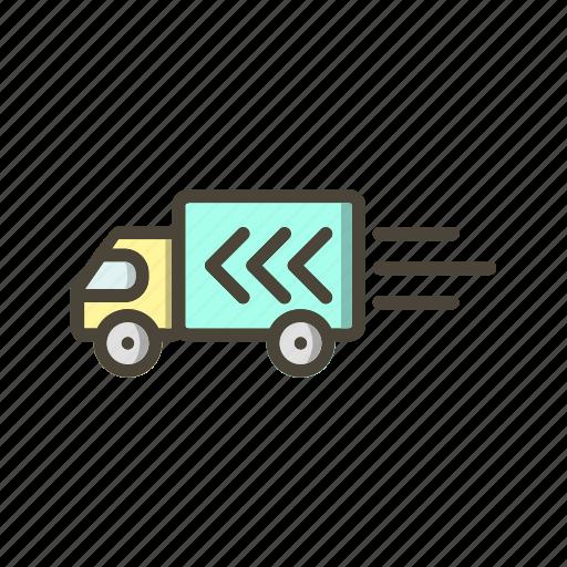 delivery truck, truck, van icon