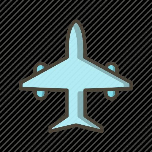 aeroplane, aircraft, airplane icon
