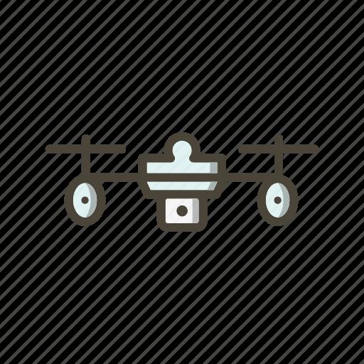 camera, drone, drone robot icon