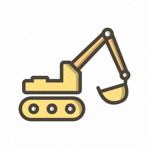 construction, digger, excavator icon