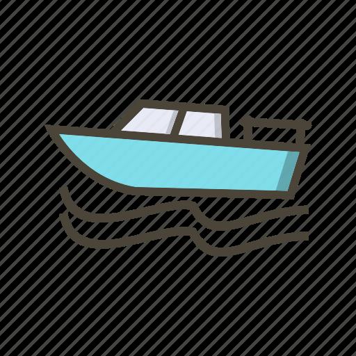 boat, boating, cruise icon