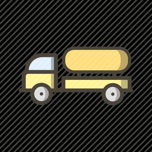 oil tank, oil tanker, truck icon
