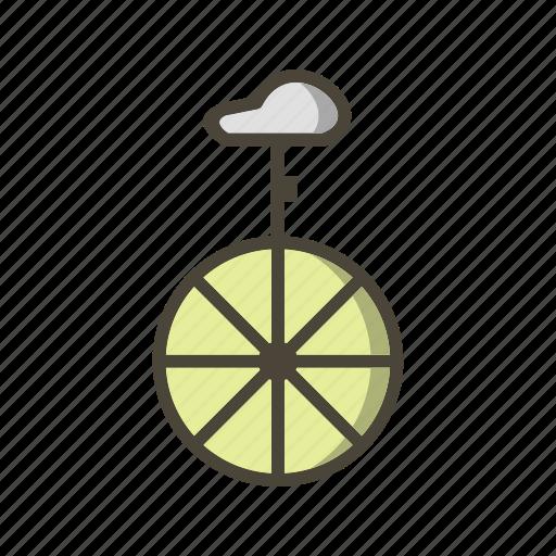 circus, uni cycle, unicycle icon