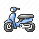 journey, motor, motorbike, motorcycle, motorcyclist, vehicle, wheel icon
