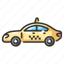automobile, cab, drive, passengercar, speed, taxi, vehicle icon
