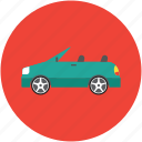 automobile, car, ferrari, hatchback, roofless car icon
