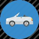 automobile, car, ferrari, hatchback, roofless car icon