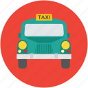automobile, cab, hiring car, taxi, taxicab, vehicle for hire icon