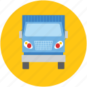 cargo, construction transport, delivery truck, heavy trucks, shipping van icon