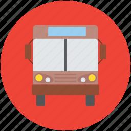 bus, public bus, school bus, transport, transport bus, vehicle icon