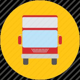 bus, double bus, double decker, public transport, transport, vehicle icon