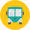 coach, motor bus, passenger bus, public bus, school bus, tour bus, transport icon