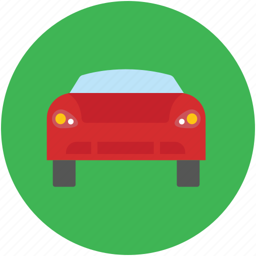 automobile, car, car frontal, transport, vehicle icon