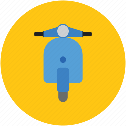 motorcycle, motorscooter, scooter, transport, vehicle, vespa icon