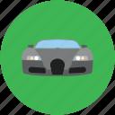 auto, automobile, car front, luxury car, sports car icon