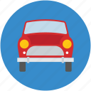 auto, automobile, beetle, beetle car, car front view, microcar icon