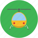 air transport, chopper, helicopter, rotorcraft, travel icon