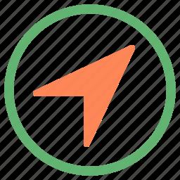 arrow, circle, cursor, right, up icon