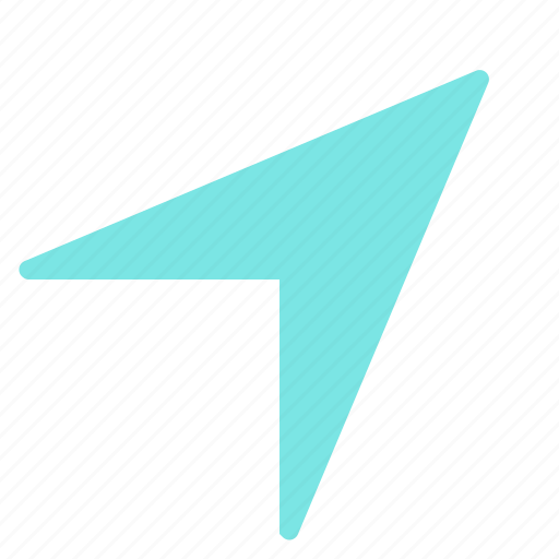arrow, cursor, large, right, up icon