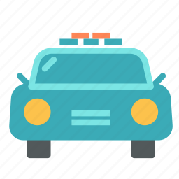 car, front, taxi, vehicle, view icon
