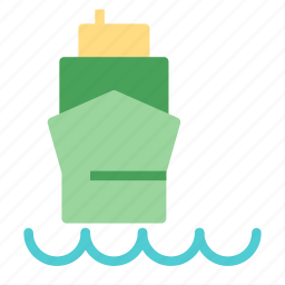 cargo, dock, front, ship, view icon