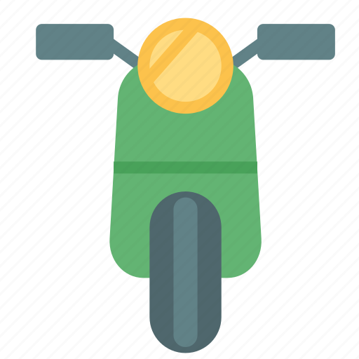 motorcicle, small, transport, vehicle icon