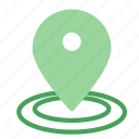 gps, large, location, mark, pin icon
