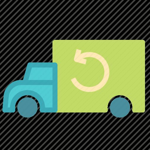 car, cargo, redo, refresh, transport, truck icon