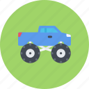big, car, foot, logistics, machine, transport icon