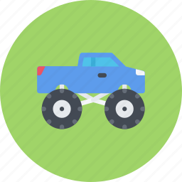big, car, foot, logistics, machine, transport icon