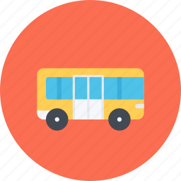 bus, car, logistics, machine, transport, transportation icon