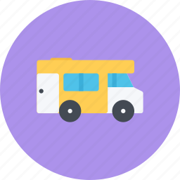 camper, car, logistics, machine, transport, transportation icon