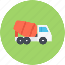 car, concrete, logistics, machine, mixer, transport, transportation icon