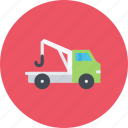 car, evacuator, logistics, machine, transport, transportation icon