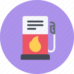 car, gas, logistics, machine, station, transport, transportation icon