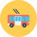 car, logistics, machine, transport, transportation, trolleybus icon
