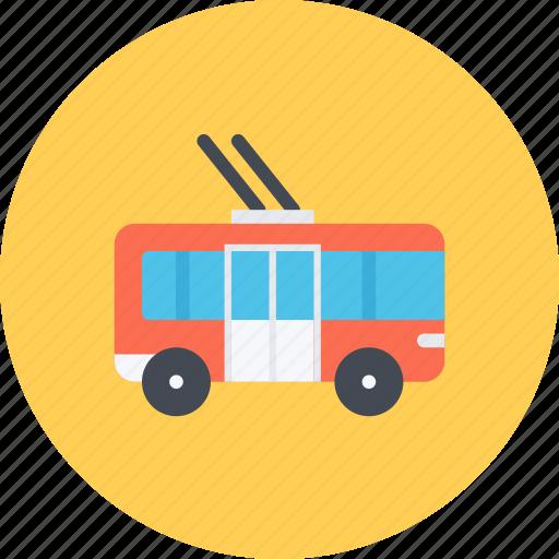 car, logistics, machine, transport, transportation, trolleybus icon