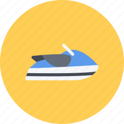 car, logistics, machine, scooter, transport, transportation, water icon