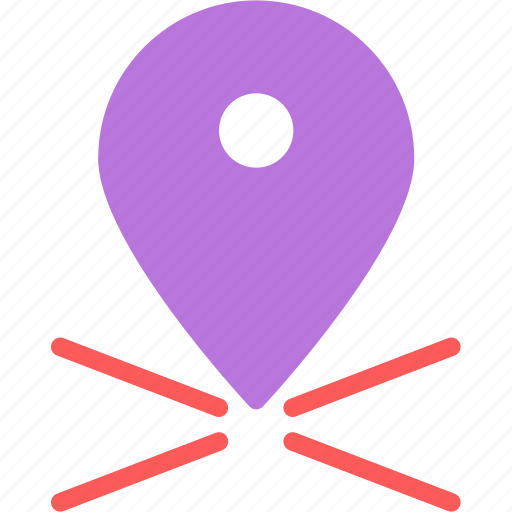 location, map, pin, point, travel icon