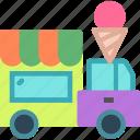 heavy, icecream, transportation, truck icon