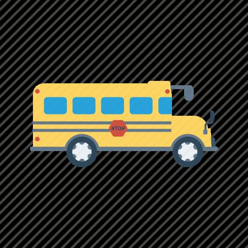 automobile, bus, transport, travel, vehicle icon