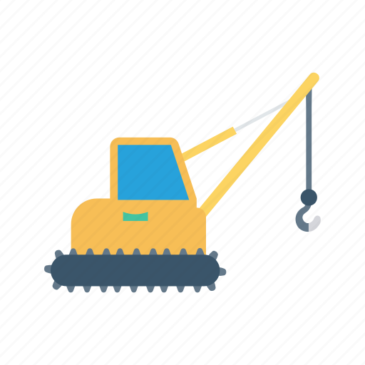 construction, crane, hook, lifter, vehicle icon