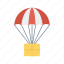 airballoon, fly, parachute, transport, travel icon