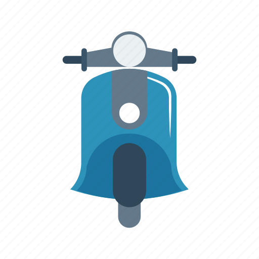 bike, delivery, motorcycle, scooter, travel icon