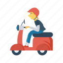 delivery, motorbike, scooter, transport, vehicle